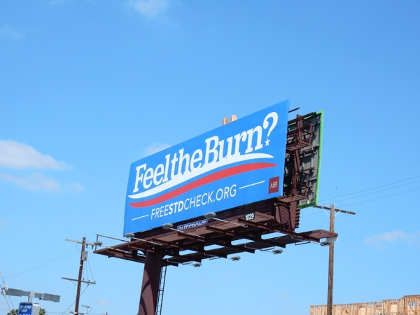 Feel the Burn? Free STD check billboard