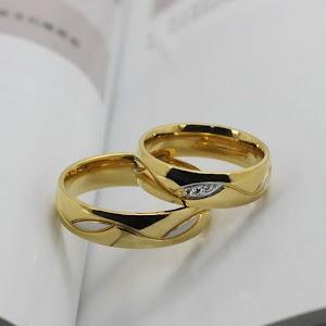 Cincin emas rhodium gold
