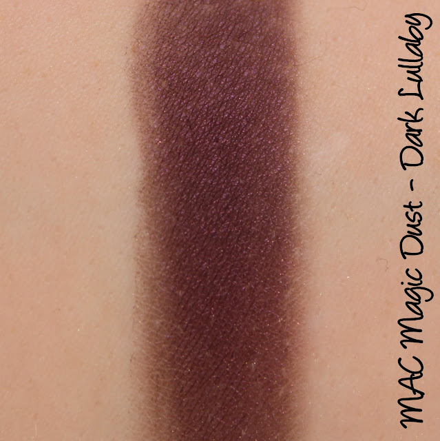 MAC Dark Lullaby Magic Dust Eyeshadow swatches & review
