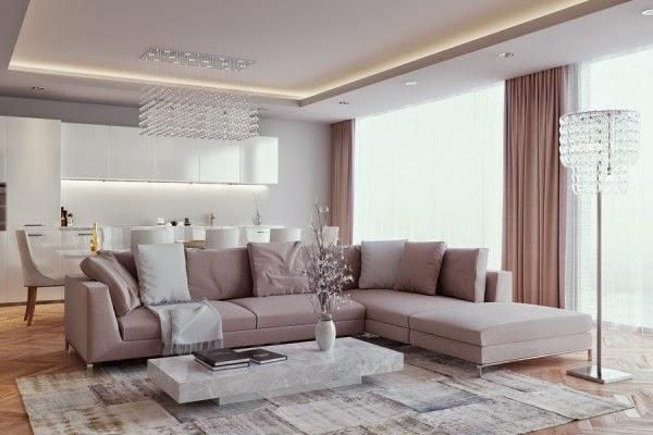 Blog wnętrzarski - design, nowoczesne projekty wnętrz: Jak urządzić salon z aneksem kuchennym ...