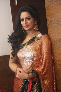 Udaya Bhanu lookssizzling in a Saree Choli at Gautam Nanda music launchi ~ Exclusive Celebrities Galleries 085.JPG