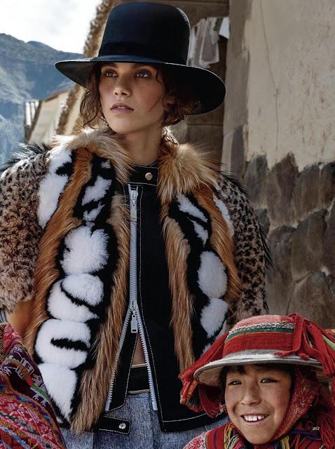 peinados etnicos con sombrero