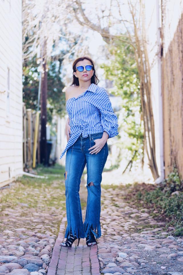 Viernes de tendencia by Mari Estilo Wearing: Top/Blusa: SheIn Jeans/Vaqueros: BOMGO Shoes/Zapatos: Dolce Vita