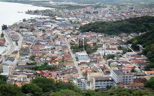 Vista da cidade de Laguna – SC