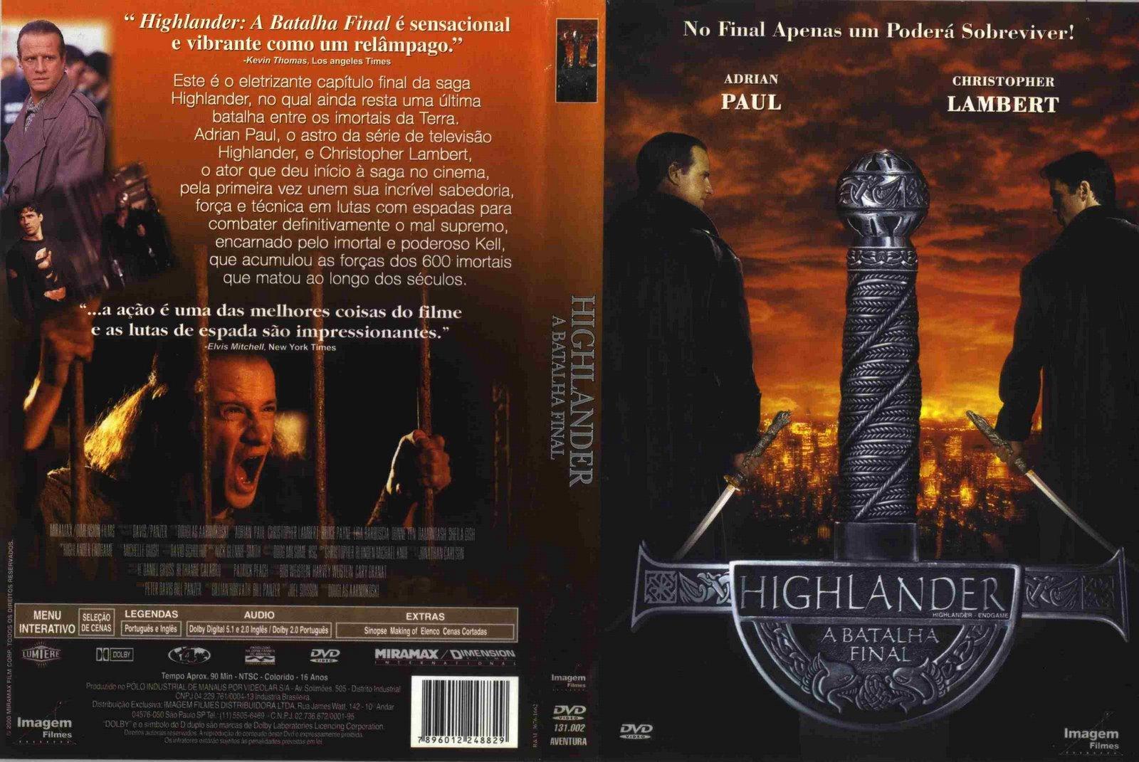 Resultado de imagem para Highlander A Batalha Final poster