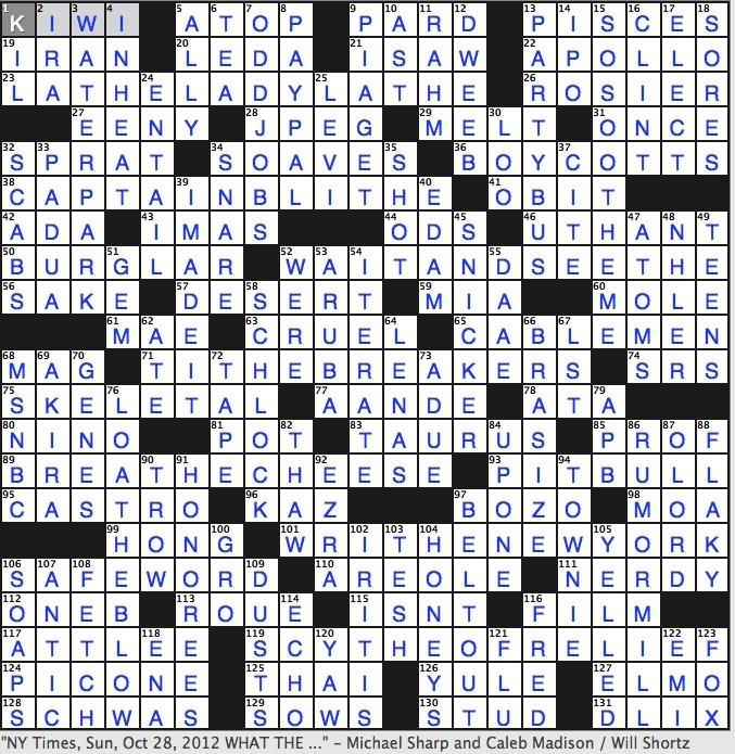 Guardian crossword