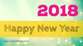 Sparkling Happy new year greetings live