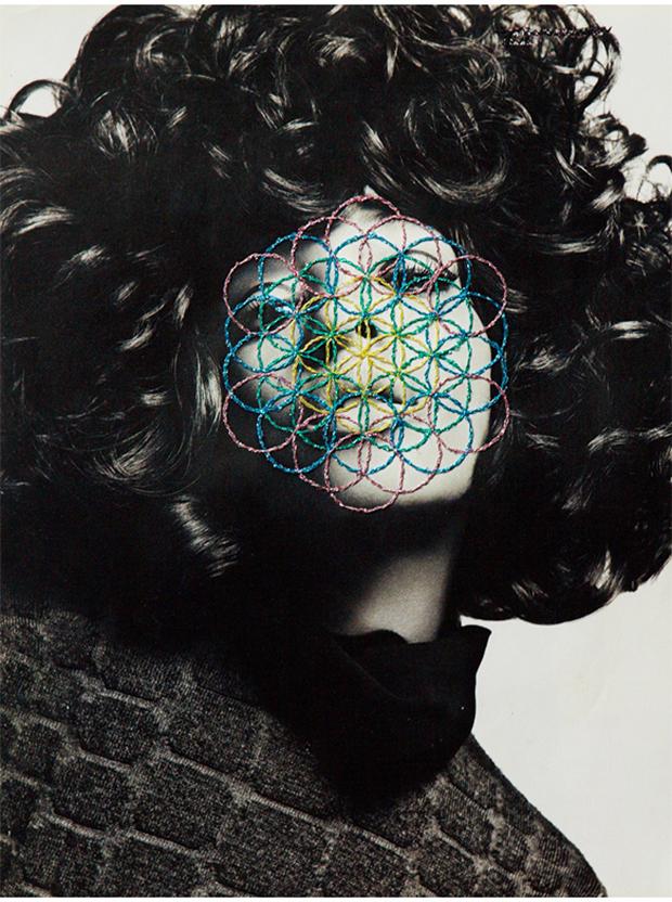 José Romussi bordados coloridos em fotografias antigas