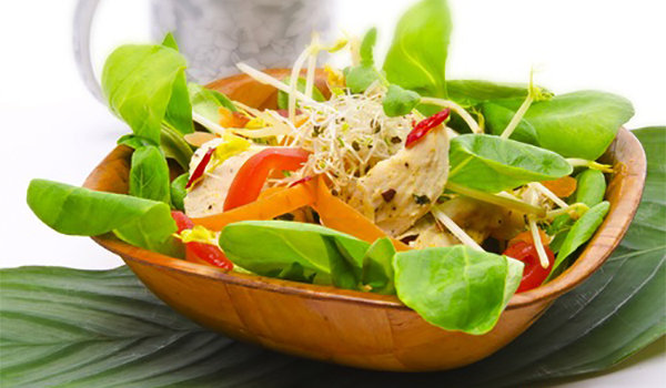 Garden Salad with Lemon & Oil Dressing