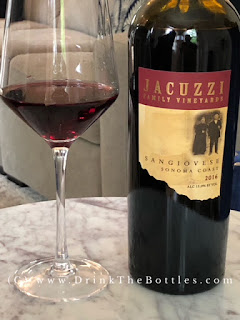 2016 Jacuzzi Family Vineyards Sangiovese Sonoma Coast label