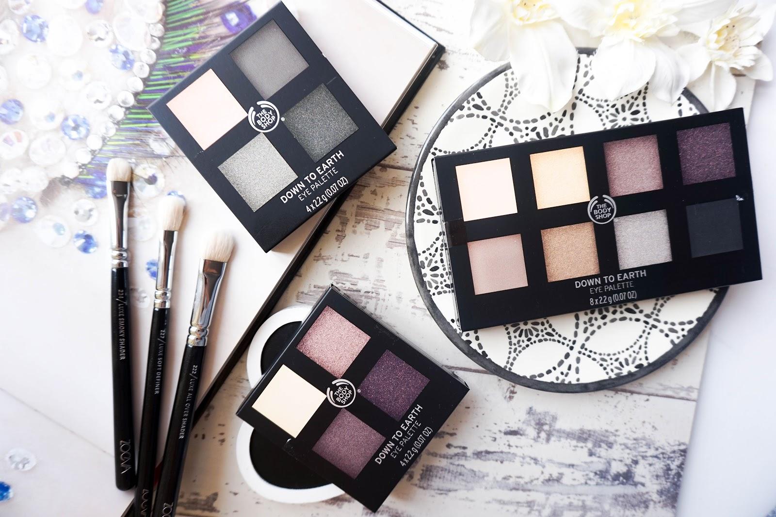 The Body Shop Down To Earth Eyeshadow Palettes