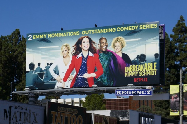 Kimmy Schmidt Emmy nominee Netflix billboard