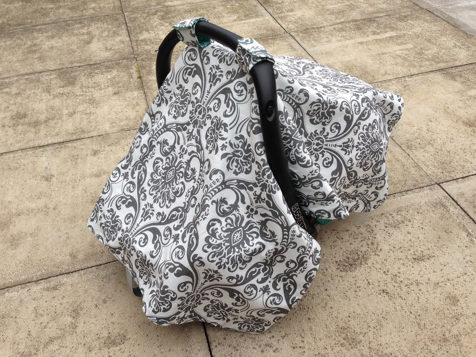 Bundles And Buttons Baby Car Seat Canopy Tutorial