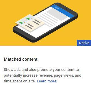 Cara Mendapatkan Iklan Adsense Matched Content (Konten yang Sesuai) dari Google