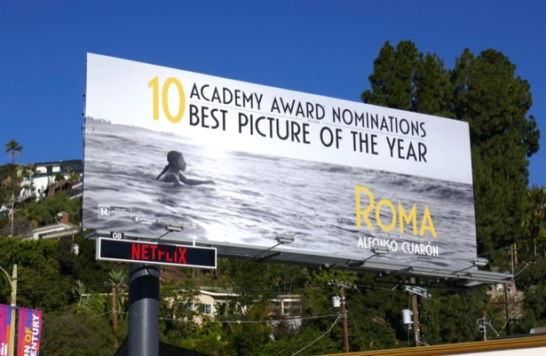 Roma Academy Award nominee billboard