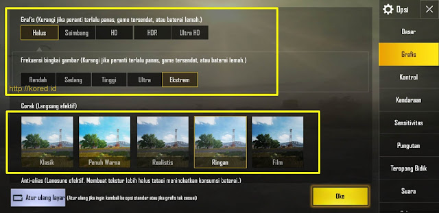 Setting Grafis Extreme 60 Fps Pubg Mobile