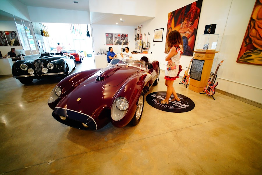 Walt Grace, vintage cars and guitars, Wynwood, Miami