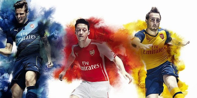 ARSENAL 2014-15 PUMA HOME KIT