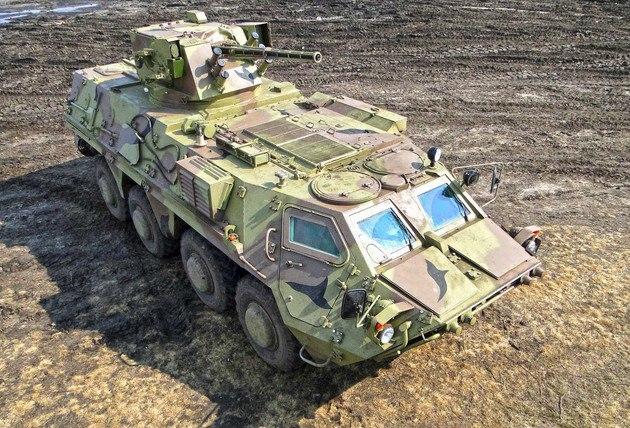 БТР-4В с боевым модулем БМ-7 «Парус»