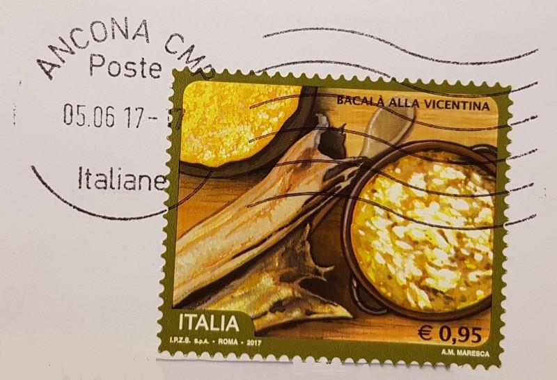 francobollo Bacalà alla Vicentina 2017