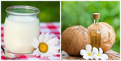 Sữa chua và dầu dừa trị nám tàn nhang cực tốt