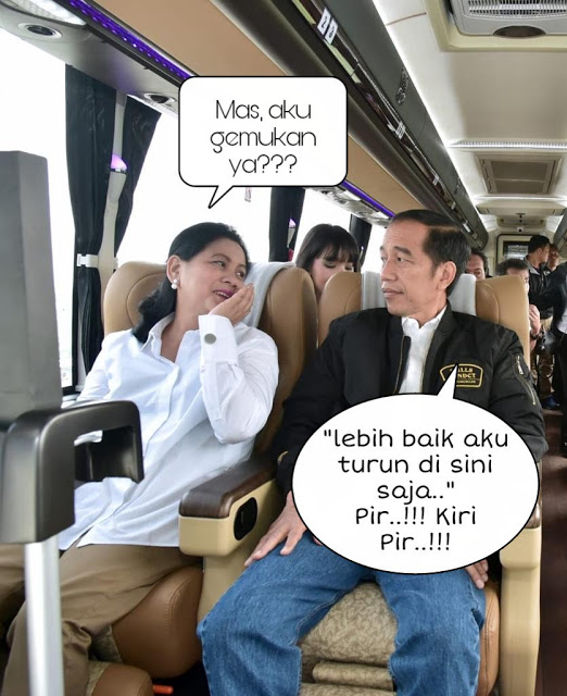 Netizen Pada Bikin Dialog Jokowi dan Iriana Pakai Tagar #JalanBarengYuk