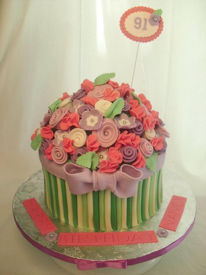 Flower Bouquet Birthday Cake