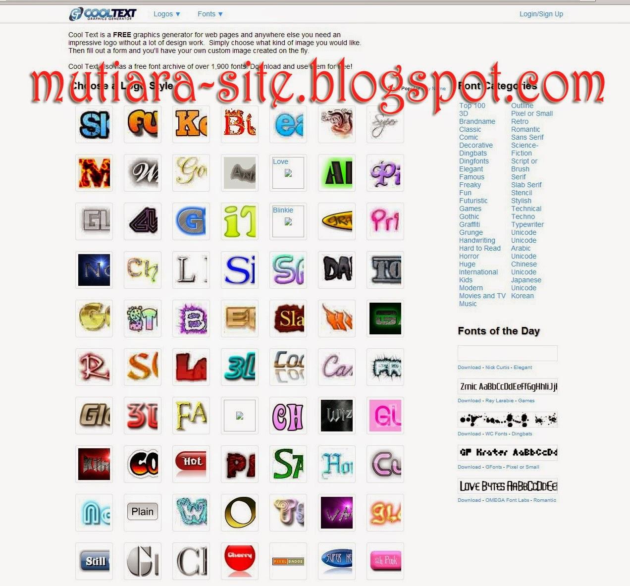 Design name logo generator