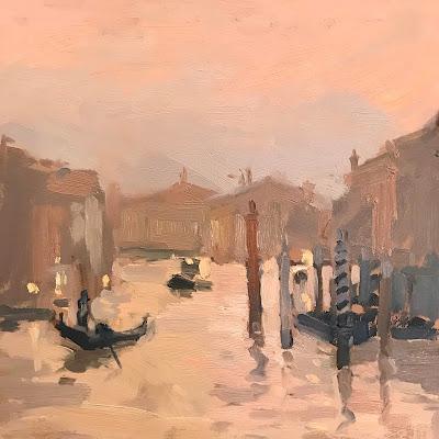 #238 'Dusk, Grand Canal' 8×8″