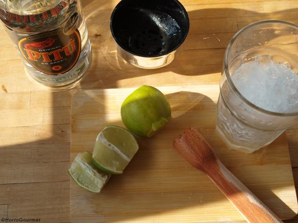 Ingredientes para caipirinha HortoGourmet