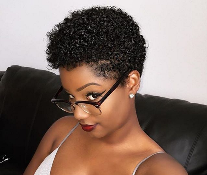 Short Natural Hair Cuts For Black Females Hairstyles For Black Women Kizifashion
