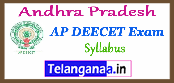 AP Andhra Pradesh DEECET Entrance Test Syllabus 2018 Admit Card