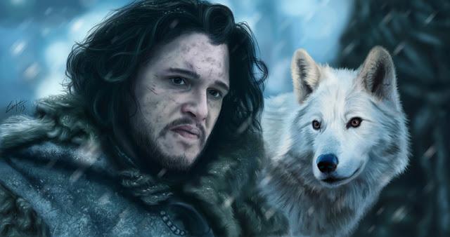 Jon Snow şi Ghost