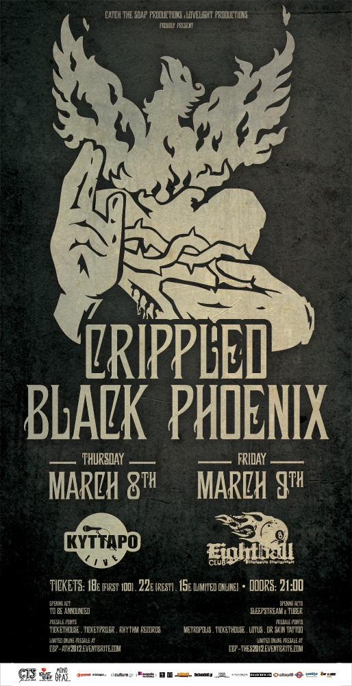8 & 9 March: Crippled Black Phoenix Live In Thessaloniki / Athens