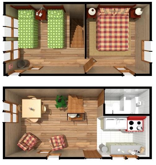 Casas prefabricadas casur en chile casas prefabricadas for Casa minimalista de 40 metros cuadrados