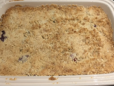 Cooked summer fruit crumble