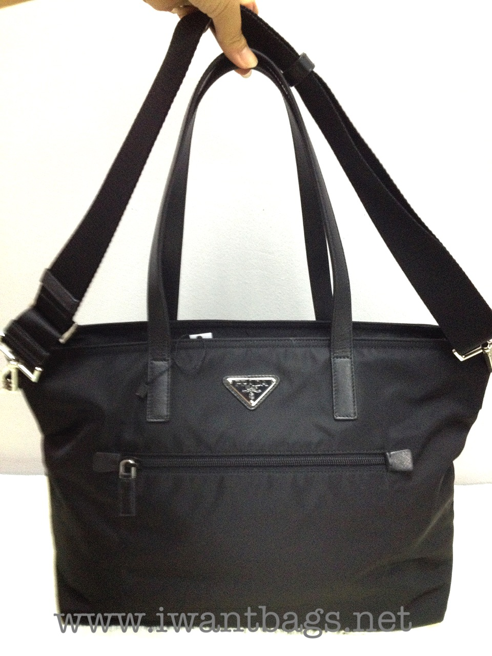 8d3bee86cf49 Prada Nylon Shopping Bag With Zip (size) | Stanford Center for ...