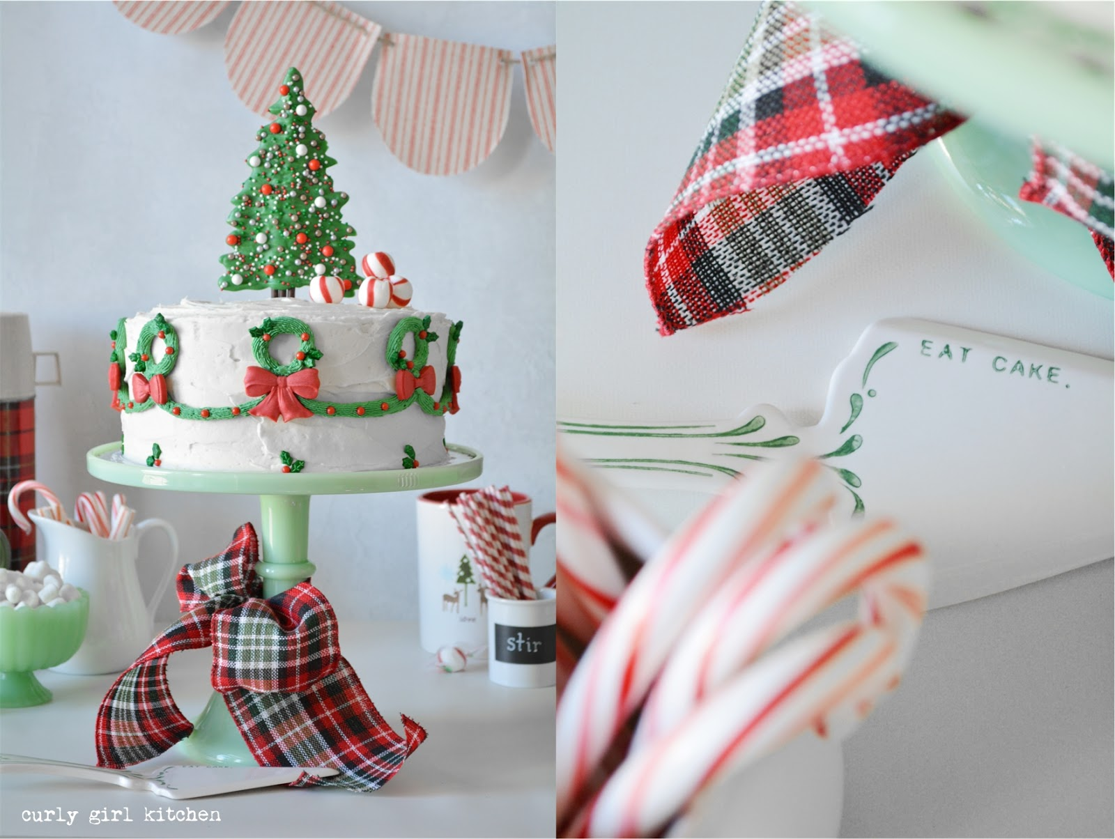 Curly Girl Kitchen Christmas Tree And Wreath Cake