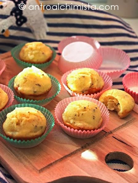 Mini Muffins con Montasio al Profumo di Salvia