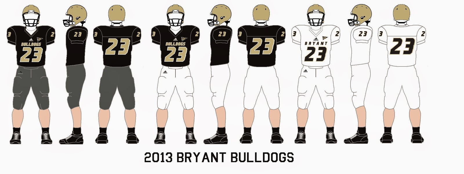 free shipping 491f9 20856 Gridiron Garb: Bryant Bulldogs (2013); Central Connecticut ...