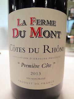 La Ferme Du Mont Première Côte Côtes du Rhône 2013 (88 pts)