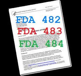 FDA form 483-483-484