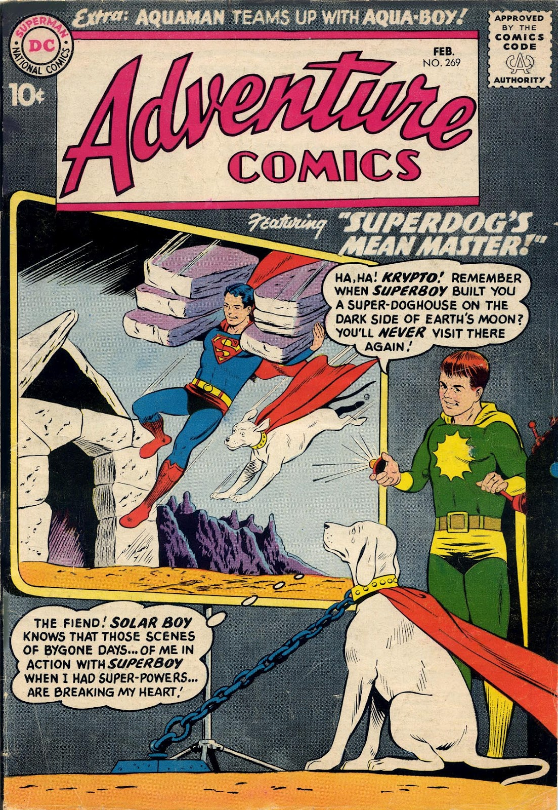 days of adventure  adventure comics   269  february  1960