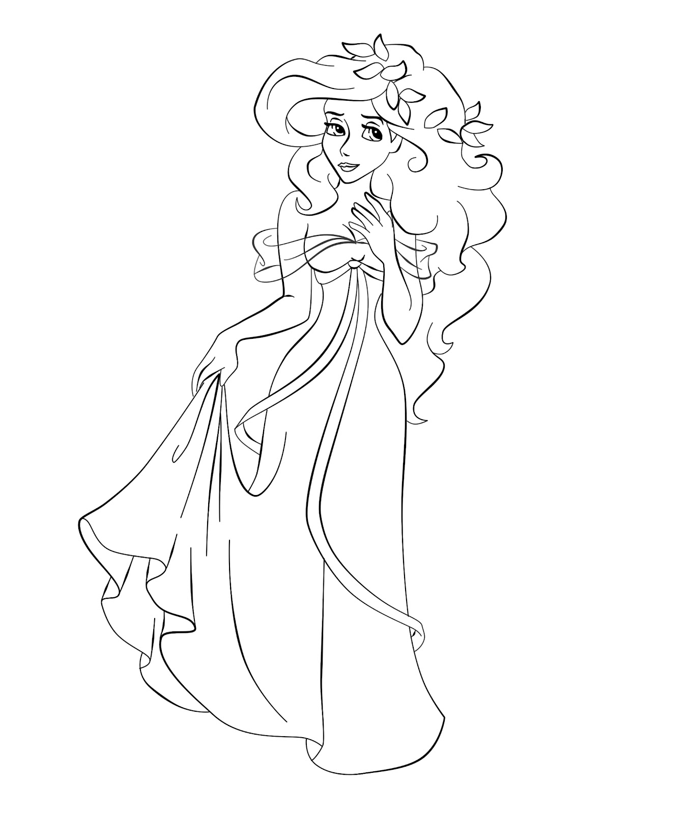 how to draw cartoon disney princesses printable