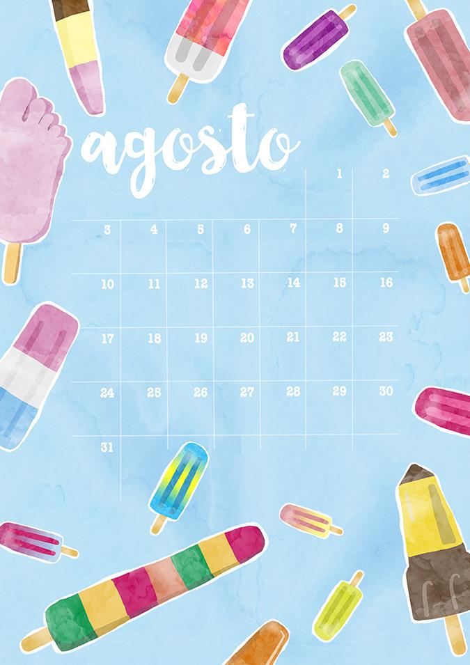 Milowcostblog calendario agosto imprimible y fondo for Fondo de pantalla calendario 2018
