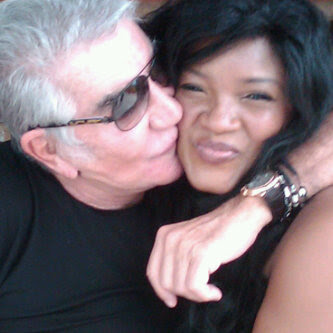 Picture: Omotola gets A Hot Peck From Italian Designer Robert Cavalli 1