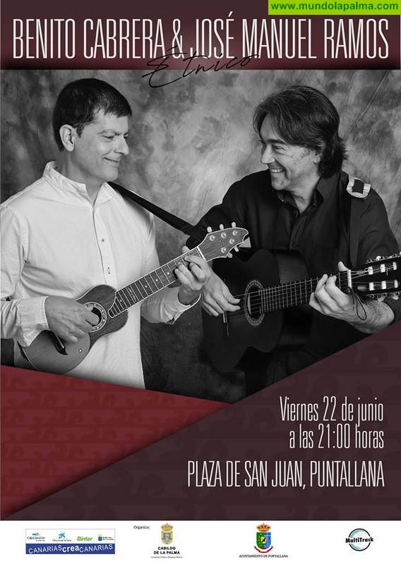 Concierto de Benito Cabrera y José Manuel Ramos en Puntallana