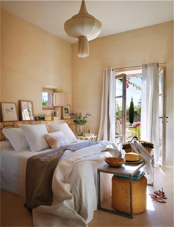 casa mediterránea de lo más natural dormitorio