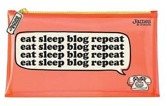 Eat Sleep Blog Repeat Pencil Case