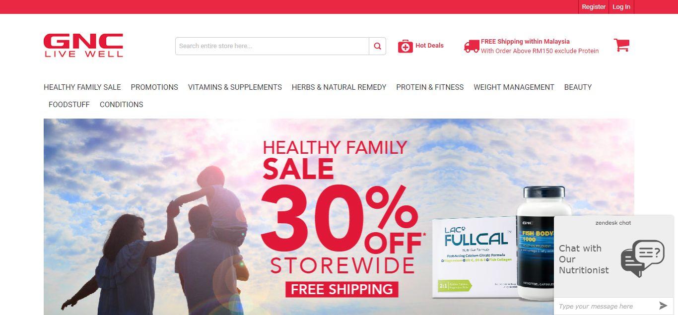 GNC Live Well e-commerce